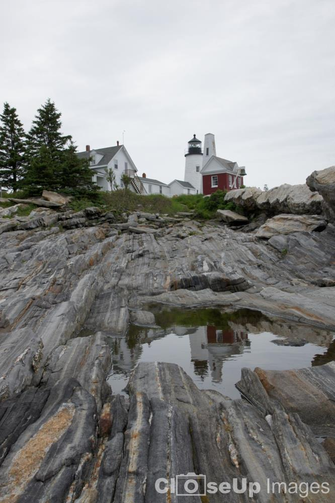 Pemaquid Lighthouse Reflection by CloseUp Images