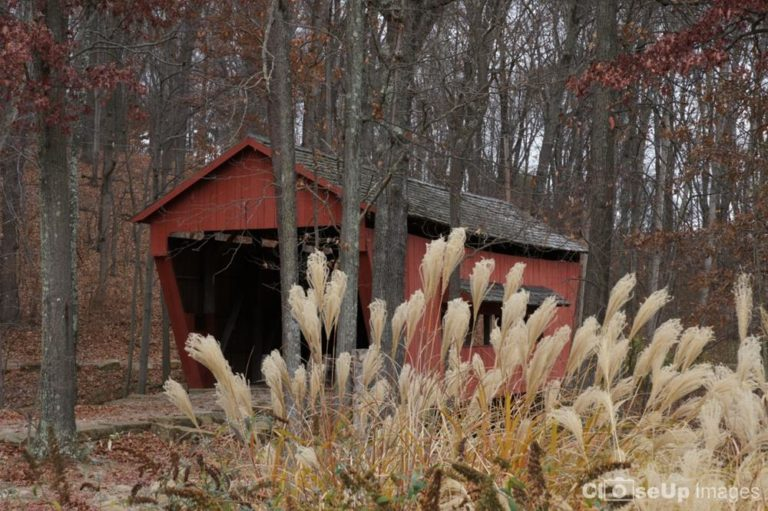 Red Covered Bridge. Taken by CloseUp Images